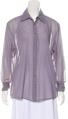 Gucci Semi-Sheer Button-Up Top