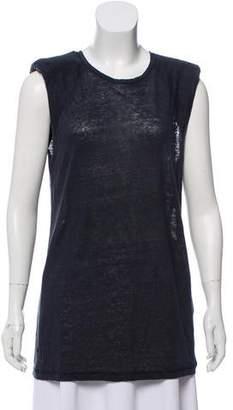 IRO Linen Sleeveless T-Shirt