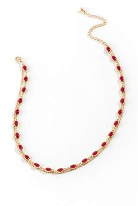 francesca's Ayanna Layered Choker in Red - Wine