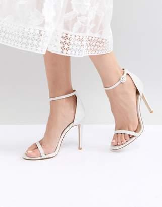 Barely There Be Mine Bridal Azalea White Sparkle Sandals