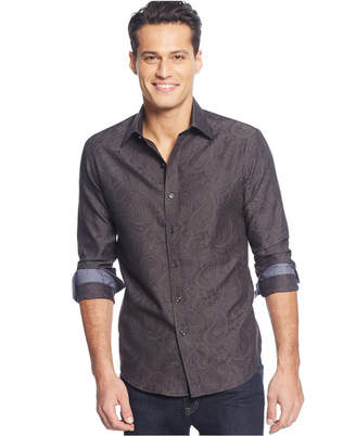 Tasso Elba Men's Paisley Jacquard Shirt