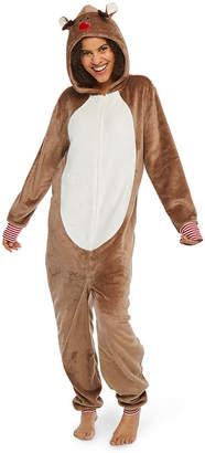 North Pole Trading Co. Reindeer Family 1 Piece Pajama Set - Unisex Adult