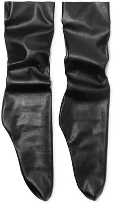 Pan & The Dream - Faux Leather Socks - Black