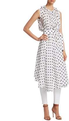 Balenciaga Women's Silk Polka-Dot Midi Dress