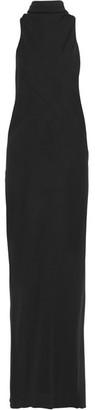 Rick Owens - Raglan Wool-jersey Maxi Dress - Black $1,085 thestylecure.com