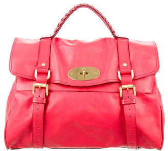 Mulberry Leather Alexa Satchel $625 thestylecure.com