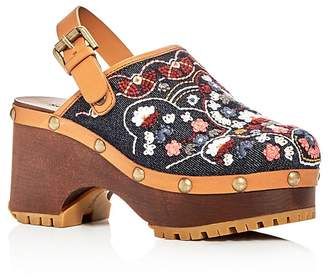See by Chloe Tasha Denim Clogs