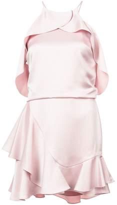 Halston short off-shoulder dress
