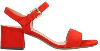 L'Autre Chose Red Suede Leather Sandals