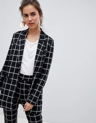 B.young check suit blazer