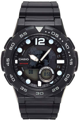Casio Mens Black Strap Watch-Aeq100w-1av