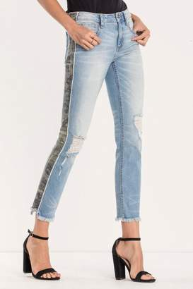 Miss Me Distressed-Camo Ankle-Straight Jean