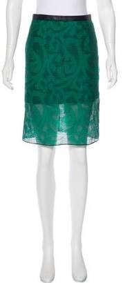 Tibi Patterned Knee-Length Skirt