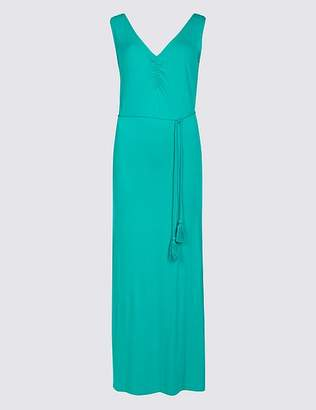 Marks and Spencer Ruched Sleeveless Maxi Dress with Belt