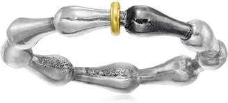 """Gurhan Splash"""" Sterling Wave Stackable Ring, Size 6.5"""