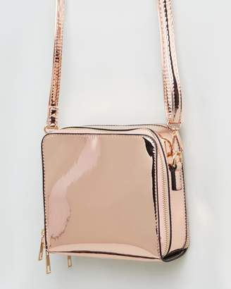 Missguided Reflective Square Cross Body Bag