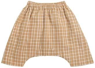 Plaid Cotton Garza Pants
