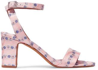 Tabitha Simmons Leticia Floral-print Satin-jacquard Sandals - Pink