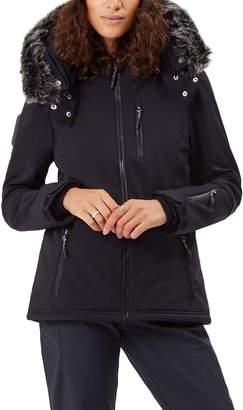 Sweaty Betty Exploration Soft Shell Ski Jacket with Faux Fur Trim