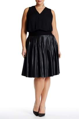Melissa McCarthy Pleated Pleather Skirt (Plus Size)