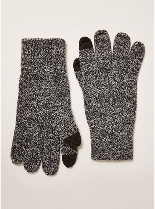 Topman Mens Grey Salt And Pepper Touchscreen Gloves