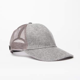 DSTLD Wool Trucker Hat in Grey