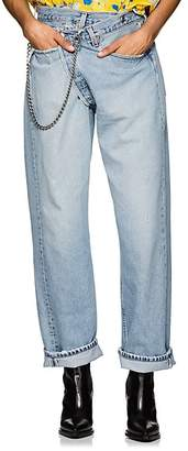 R 13 Women's Crossover Distressed Denim Jeans