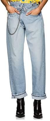 R13 Women's Crossover Distressed Denim Jeans