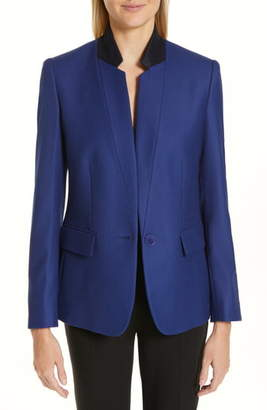 Stella McCartney Contrast Collar Wool Blazer