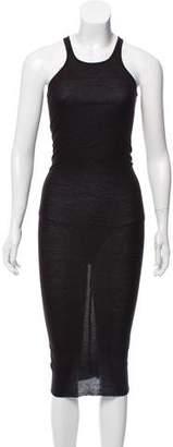 Rick Owens Rib Knit Maxi Dress