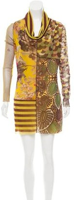 Jean Paul Gaultier Floral Print Cowl Neck Dress $150 thestylecure.com