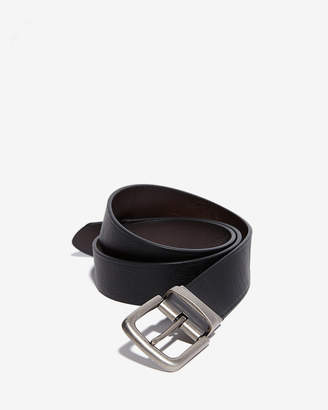 Express Reversible Antique Silver Prong Buckle Belt