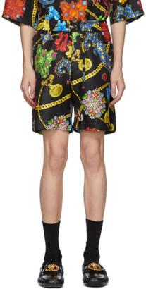 Versace Multicolor Silk Floral Shorts