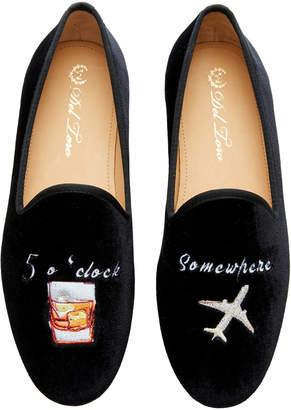 Del Toro x Moda Operandi 5 O'Clock Velvet Loafers