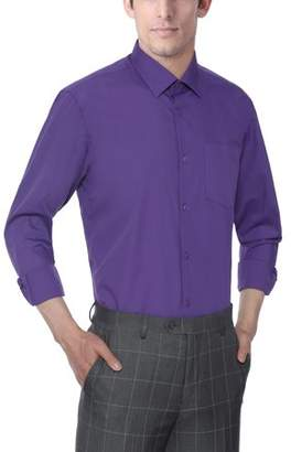 Verno Men's Classic Fashion Fit Long Sleeve Lilac Color Dress Shirt