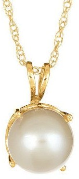 Choice of Birthstone 7.0mm Round Pendant with Chain, 14K Gold