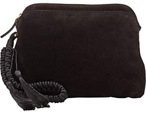The Row Women's Multi-Pouch Suede Wristlet - Black Pld