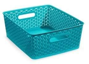 Distinctly Home 13.75-Inch Large Plastic Storage Box