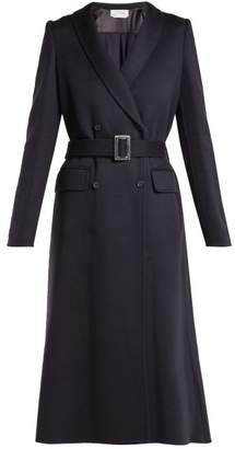 Gabriela Hearst Joaquin Double Breasted Cashmere Coat - Womens - Navy