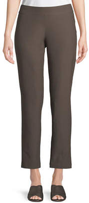 Eileen Fisher Washable Stretch-Crepe Slim Ankle Pants, Plus Size