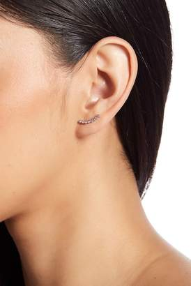 Shashi 18K White Gold Vermeil Bezel Set Crystal Ear Climbers