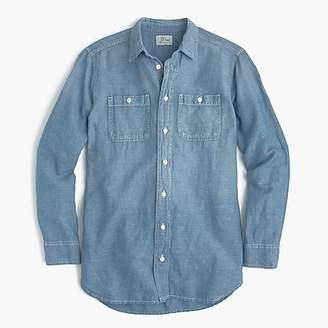 J.Crew Relaxed chambray boy shirt