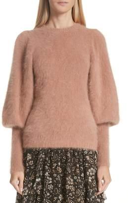 Ulla Johnson Labelle Puff Sleeve Angora Blend Sweater