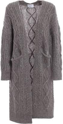 Snobby Sheep Cable-knit Drape Cardigan