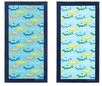 Nautica Shark Attack Set of 2 Beach Towels