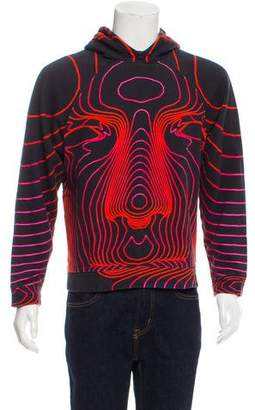 Christopher Kane Hooded Geometric Print Sweatshirt