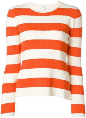 Ganni striped round neck sweater