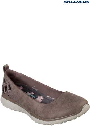 Next Womens Skechers Natural Floral Festival Skimmer With Memory Foam