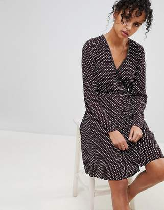 Pepe Jeans Lauren Printed Wrap Dress