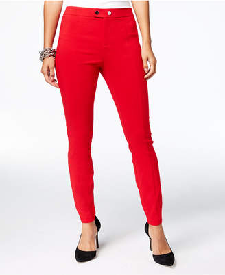 INC International Concepts I.n.c. Seamed Extend-Tab Skinny Pants, Created for Macy's